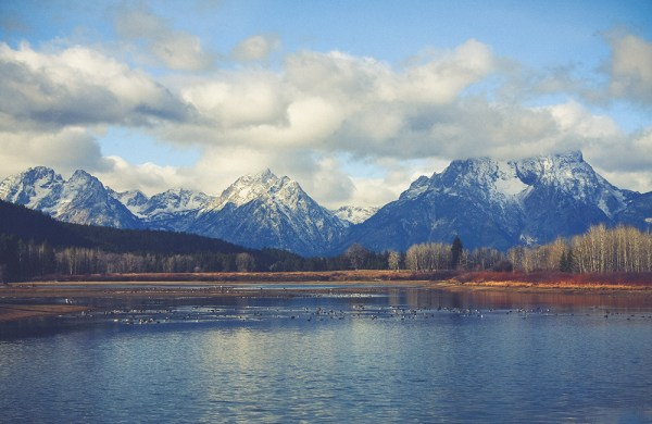 Grand Tetons from Oxbow Bend. October 2015.