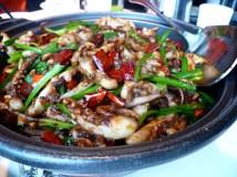 Shanghai spicy squid hot pot