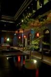 Blue Mansion at night