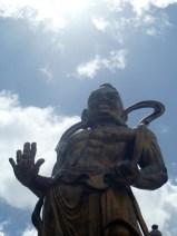 A protector near the temple