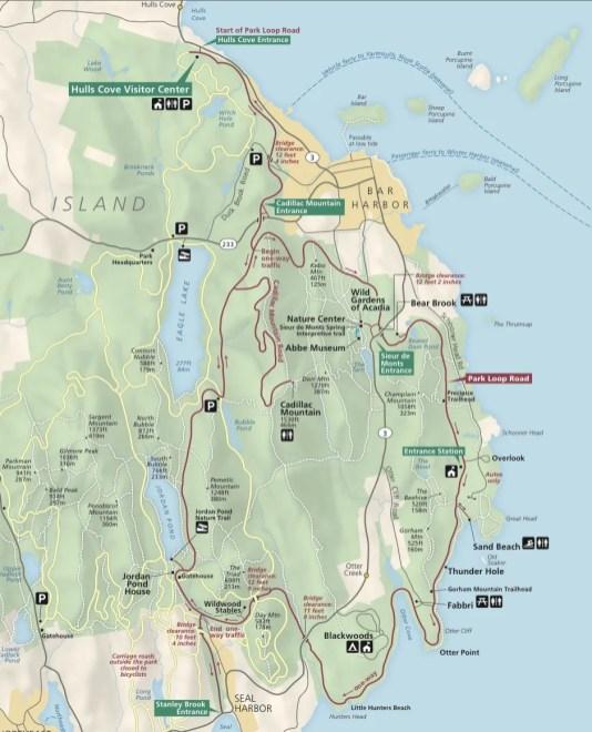 Acadia NP-map Detail