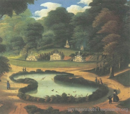 View of Forest Pond, Thomas Chambers c.1840, oil on canvas View of Forest Pond, Thomas Chambers c.1840, oil on canvas (Source: Mount Auburn Cemetery Leaflet)