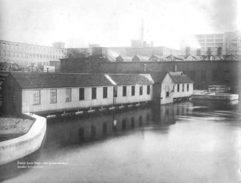 The Swamp Locks in 1918 (Source: National Park Service).