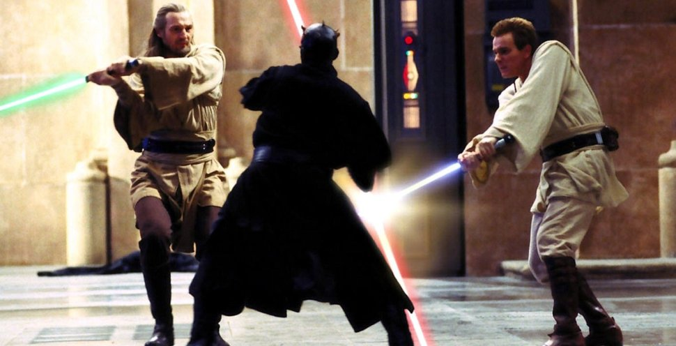 Qui-Gon-and-Obi-Wan-fight-Darth-Maul-in-Star-Wars-Episode-I-The-Phantom-Menace