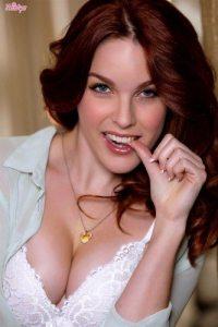 amarna-miller-strips-off-white-lingerie-in-stockings-6