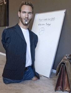 Nick Vujicic teaching
