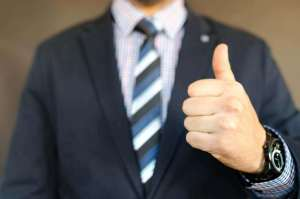 A man giving your business a thumbs up