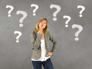 woman thinking about interview questions