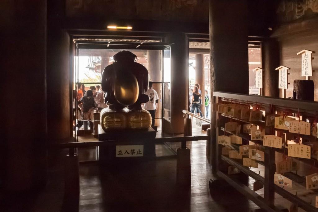 Inside Kiyomizudera temple