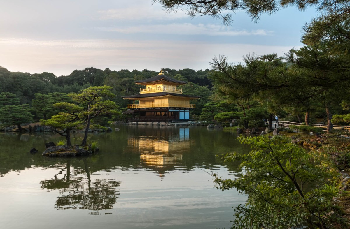 The Kinkakuji temple in Kyoto
