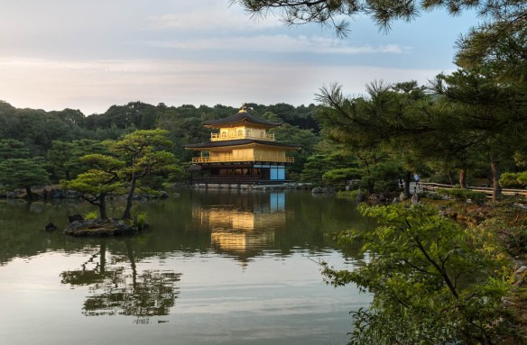 The Kinkakuji temple in Kyoto