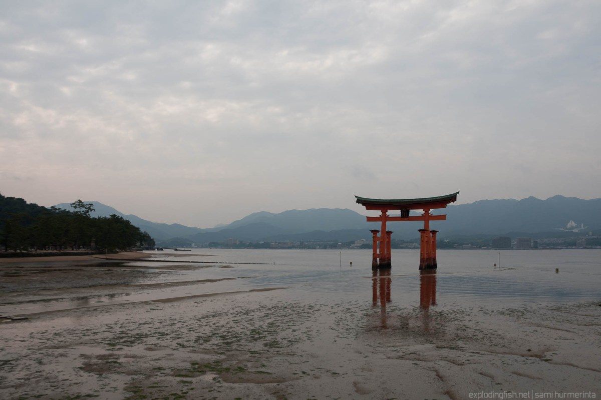 Cloudy day at Itsukushima Shrine