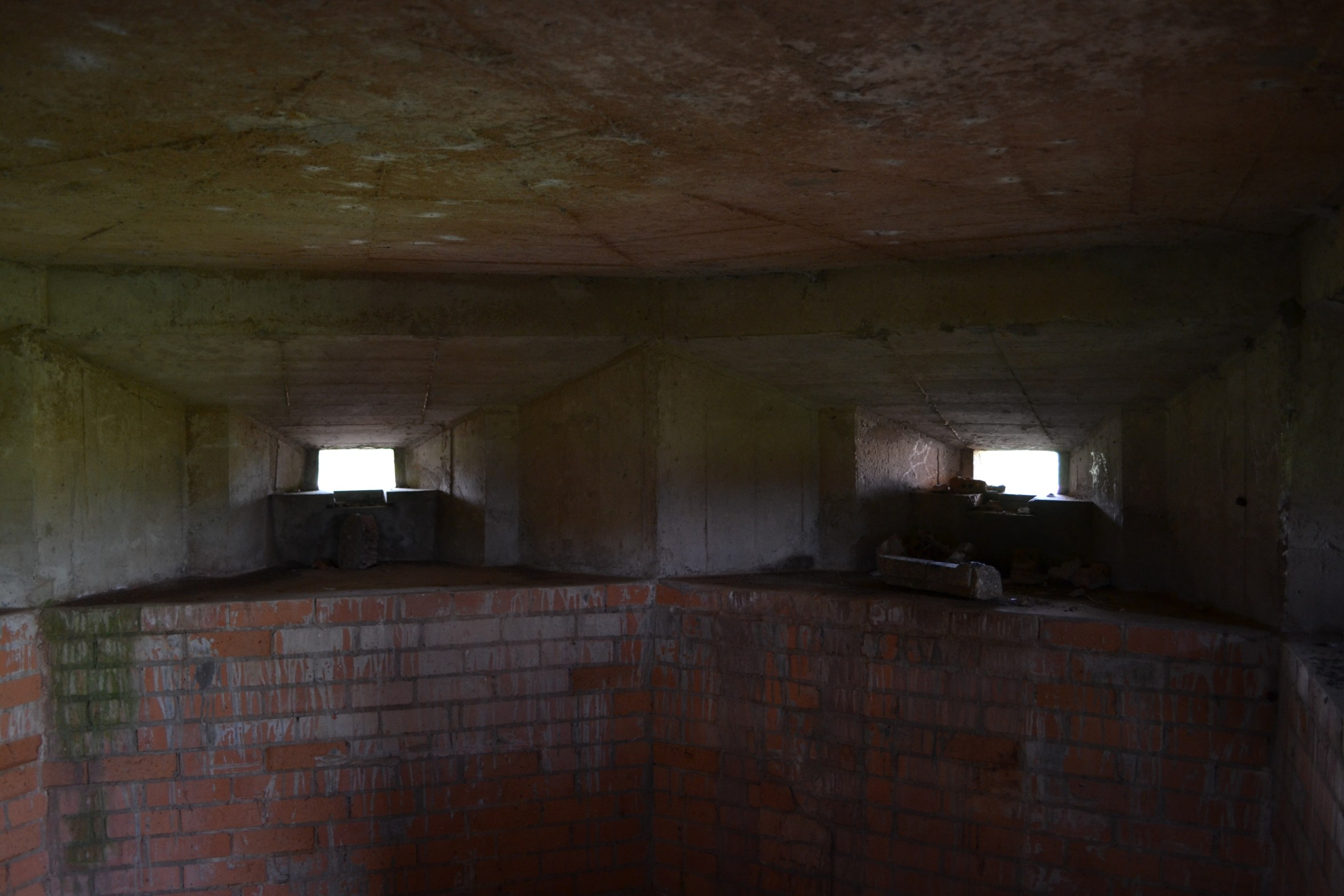 Embrasures inside a FW3/22 Pillbox