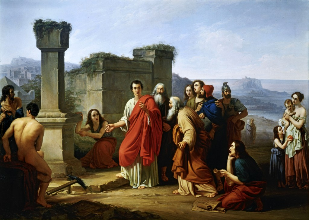 Cicero_discovering_tomb_of_Archimedes_(_Paolo_Barbotti_)