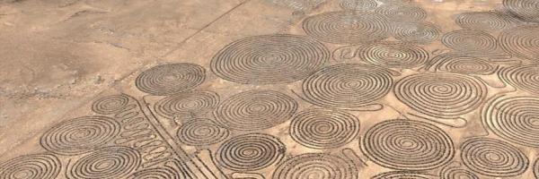 Navegando en Google Earth arquéologo amateur descubre estas insólitas espirales en desierto de Sudáfrica