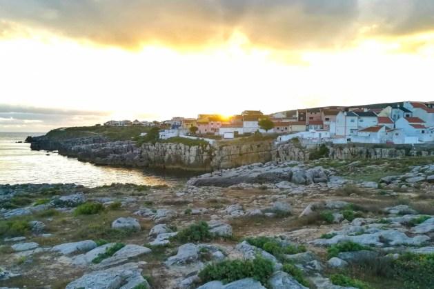 Perspetiva do Bairro do Visconde ao pôr-do-sol