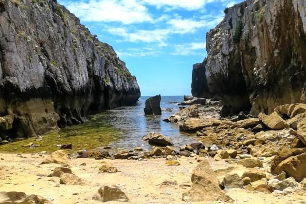 Praia do Carreiro de Joanes, na Marginal Sul de Peniche