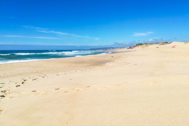 Areal da Praia da Azenha, na zona Norte de Peniche