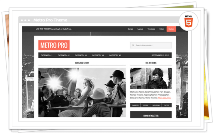 metro pro wordpress theme
