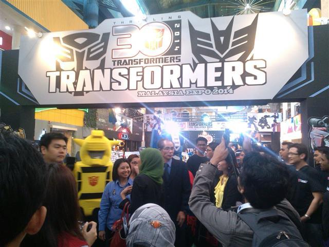 Ruang pameran di majlis pra pelancaran TRANSFORMERS EXPO 2014