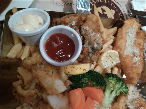ikan, sotong, udang