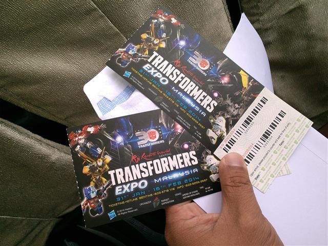 Tiket Ekspo Transformers malaysia 2014