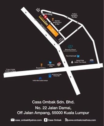 peta lokasi Casa Ombak