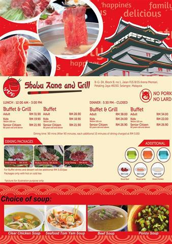 harga steamboat sazori shabu zone and grill