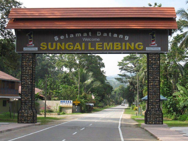 Pintu gerdang pekan Sungai Lembing (pic: google)