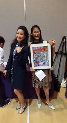 Beautiful Keith McKellar print at the Silent Auction, donated by Jim Wong-Chu