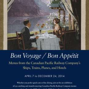 Bon Voyage / Bon Appétit Menus from the Canadian Pacific Railway Company's  Ships, Trains, Planes, and Hotels