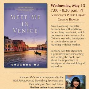 Suzanne Ma – #AsianHeritageMonth Book Reading @VPL