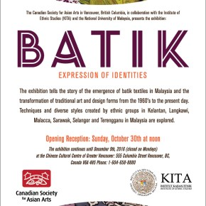 Exhibition: BATIK Expression of Identities