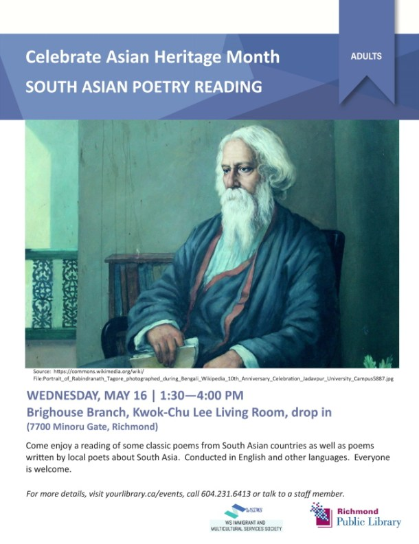 South Asian Poetry Reading - flyer (Web)