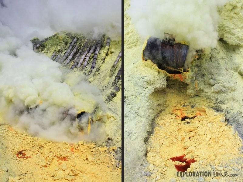 Ijen Crater sulfur