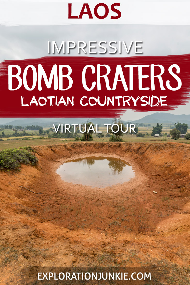 Bomb craters Laos