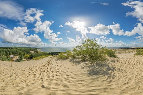 Sand Dunes, Baltic Beach & Russian Border in Nida & The Curonian Spit, Lithuania