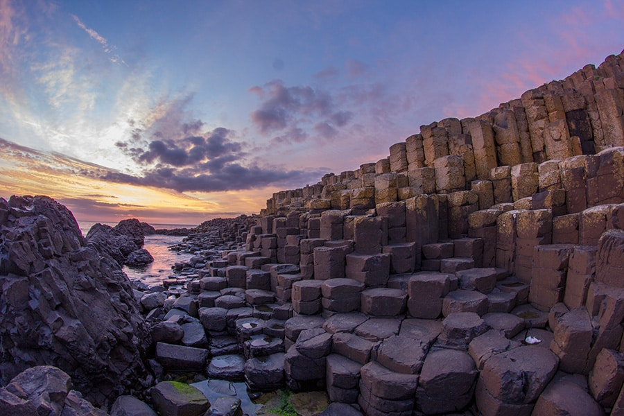 Giant's Causeway Sunset