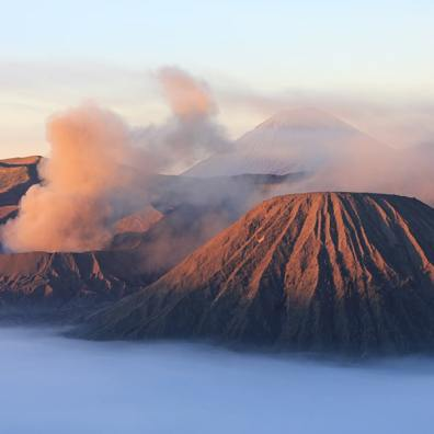 Mount Bromo, Indonesia. The atmosphere in this picture would certainly not be the same without the sunrise light.