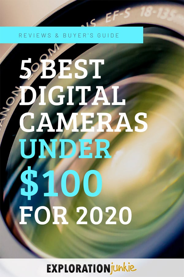 Cameras under 100 dollars Pinterest Image