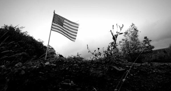 American Flag. Centralia, Pennsylvania.