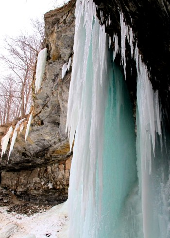 Icicles. Upper Decew Waterfalls