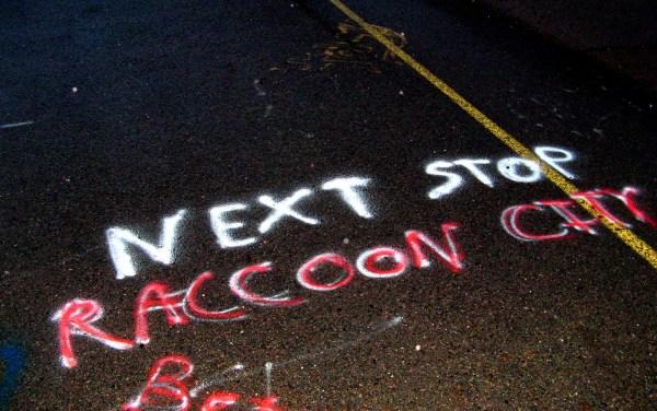 Graffiti. Route 61. Centralia, Pennsylvania.