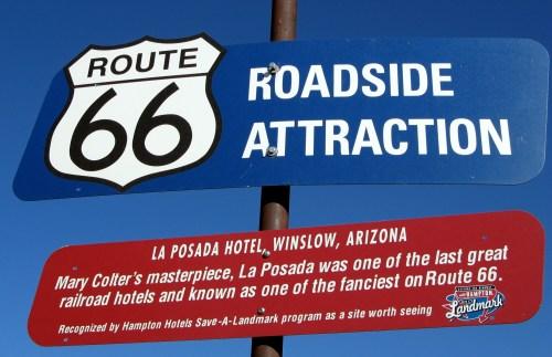 La Posada Sign. Winslow, Arizona