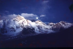 Full Moon Rise on Everest