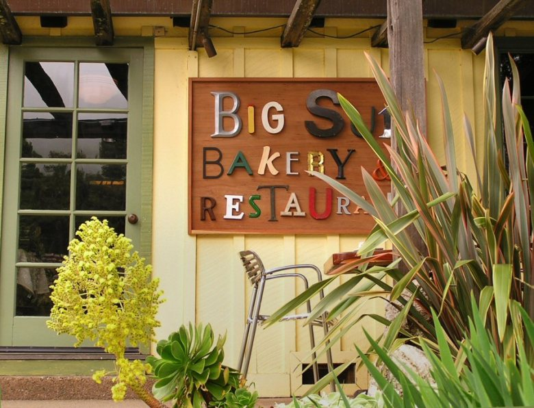 sign on Big Sur Bakery
