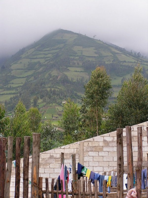 P1010060 at the lookout for Imbabura Volcano and San Pablo Lake