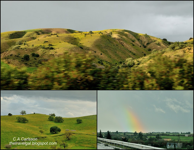 collage of scenery and rainbows on the way to Meknes