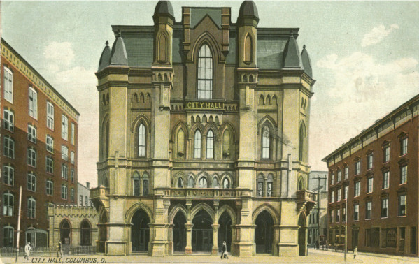 Postcard of old City Hall