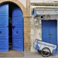 doors of riad al madina in essaouira morocco